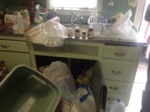 hoarder's kitchen