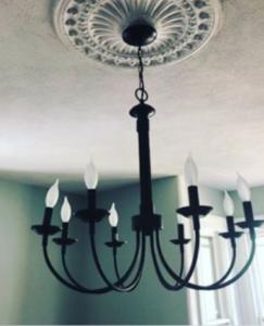 iron light fixture